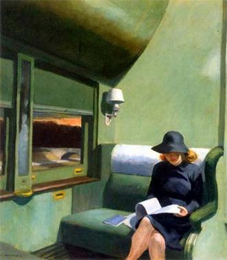 Agencias literarias. Lámina de EDward Hopper